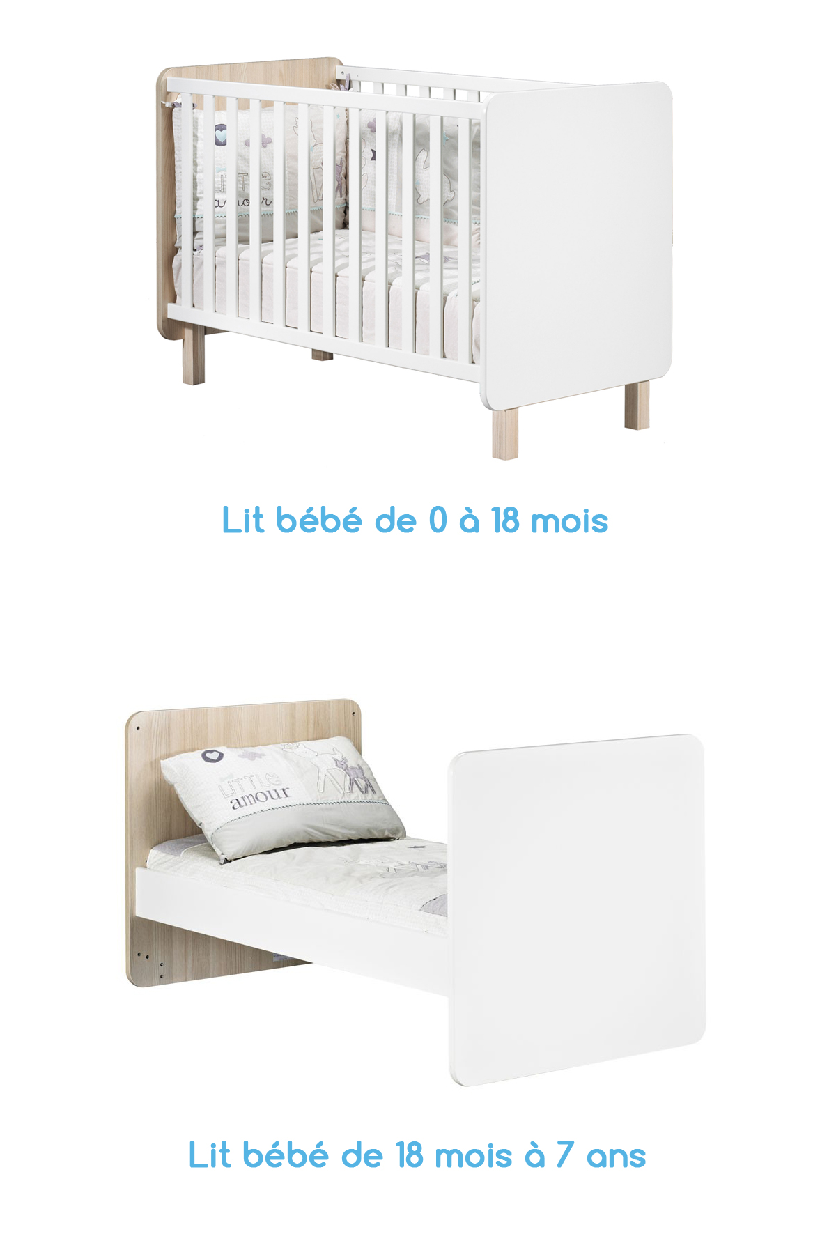 la collection nest de sauthon une chambre b b scandinave. Black Bedroom Furniture Sets. Home Design Ideas