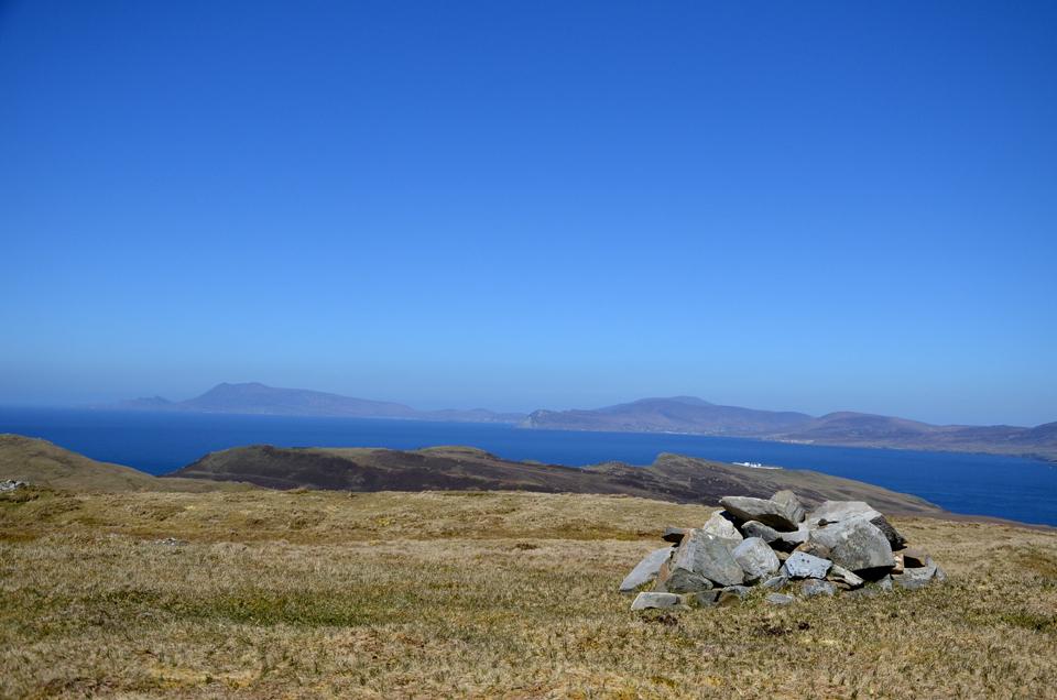 Au sommet d'une montagne de Clare Island