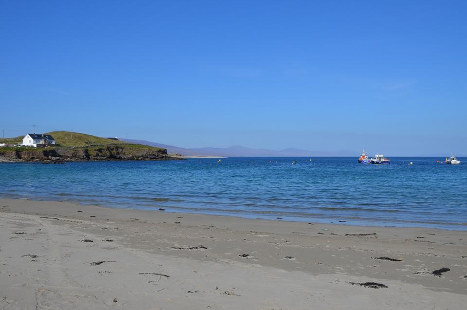 La seule plage de Clare Island