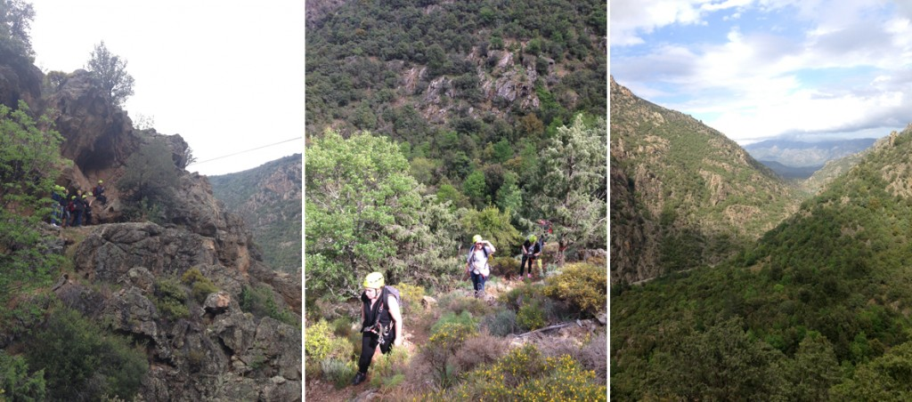 Tyrotrekking en Corse dans la vallée de l'Asco