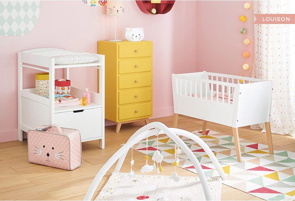 Inspirations déco : Une chambre bébé fille