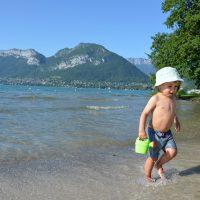Se baigner au lac d'Annecy