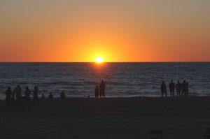 Coucher de soleil à Seignosse dans les Landes
