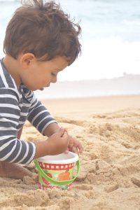 Vacances en famille dans Les Landes - les grandes plages de sable fin à Seignosse