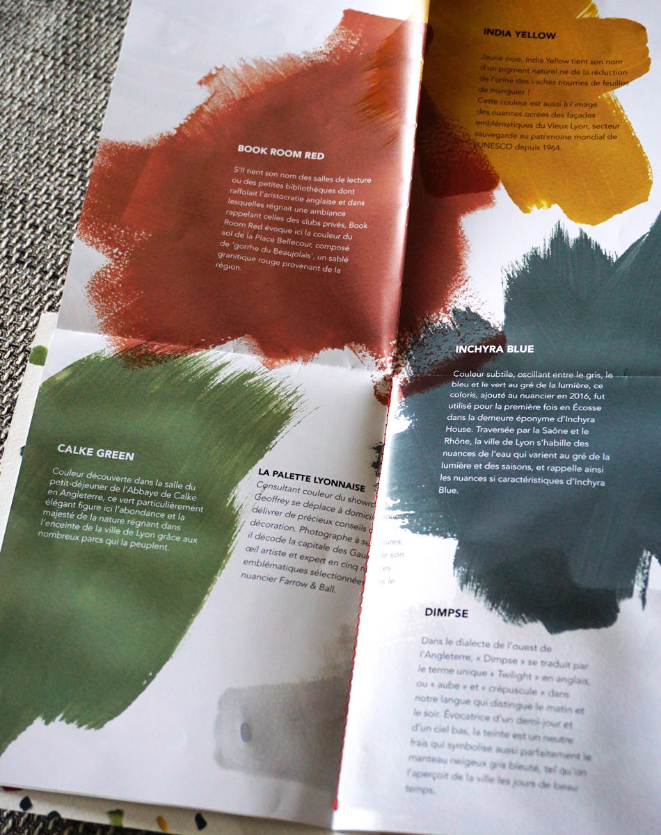 La palette de couleurs lyonnaise Farrow and Ball
