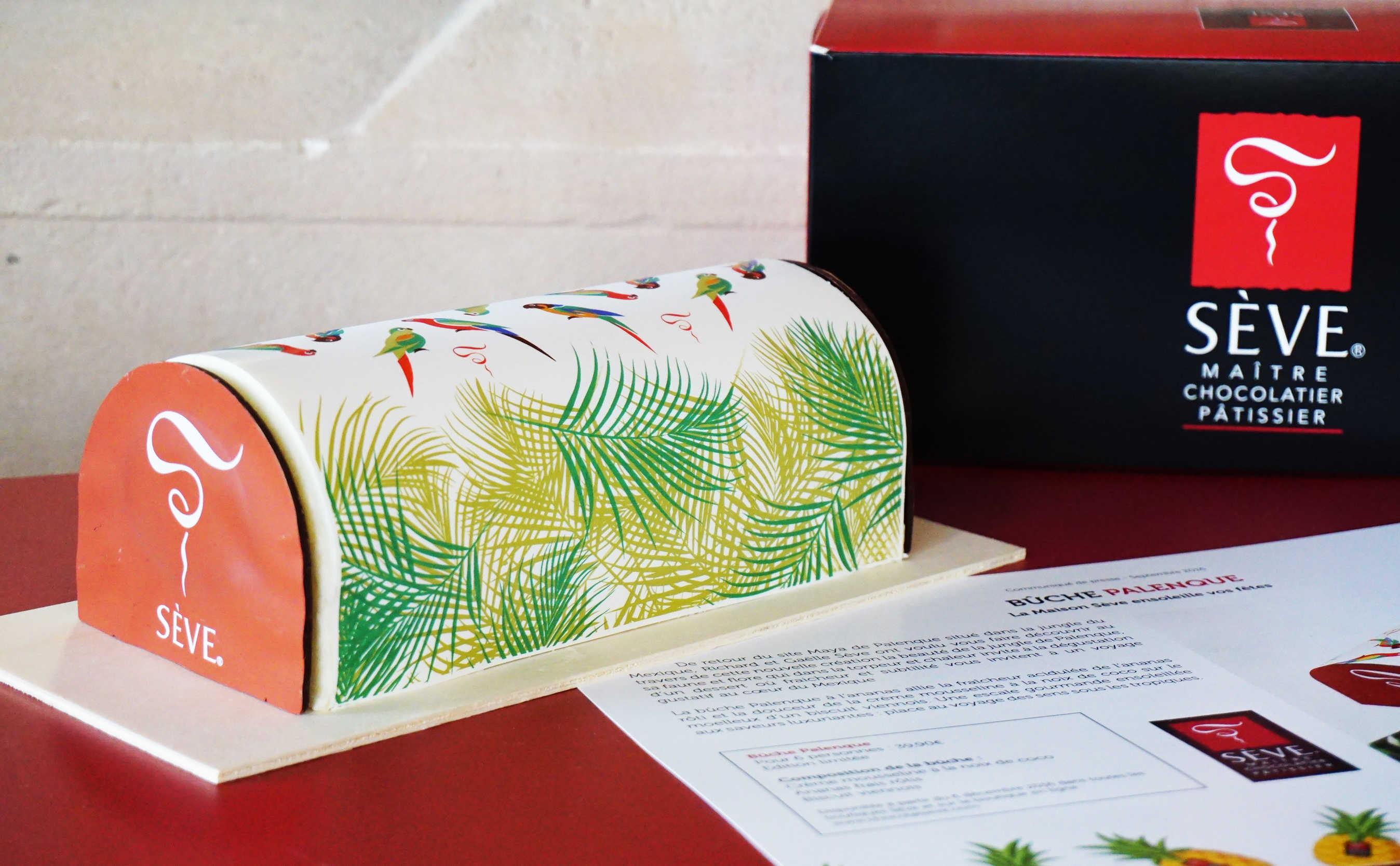 Bûche de Noël Palenque de Sève - Dégustation au Fourvière Hôtel