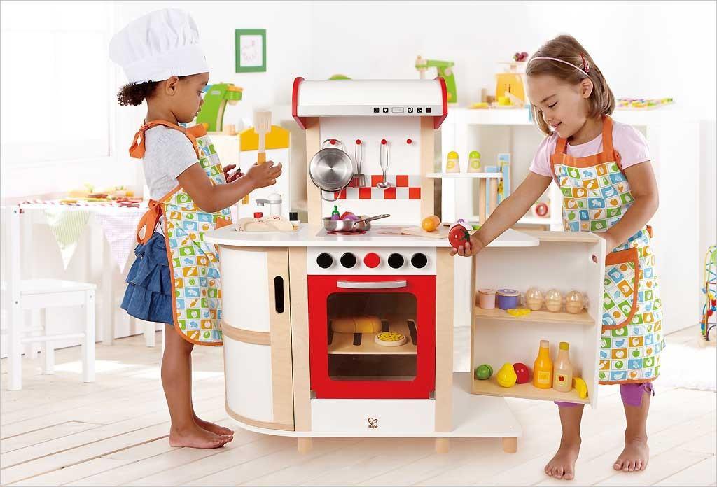 Une cuisine enfant en bois pour imiter les grands jouet en bois cuisine - Jeux enfant cuisine ...