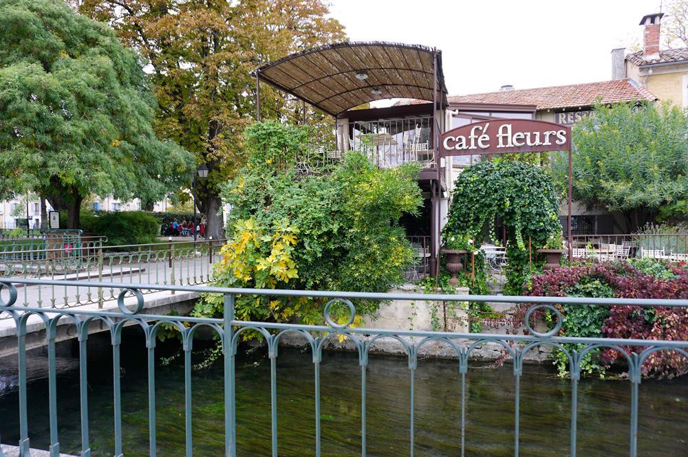 Café Fleurs L'Isle-sur-la-Sorgue
