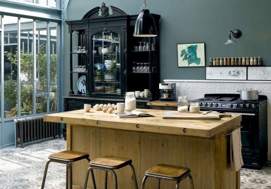Cuisine vintage industrielle inspiration