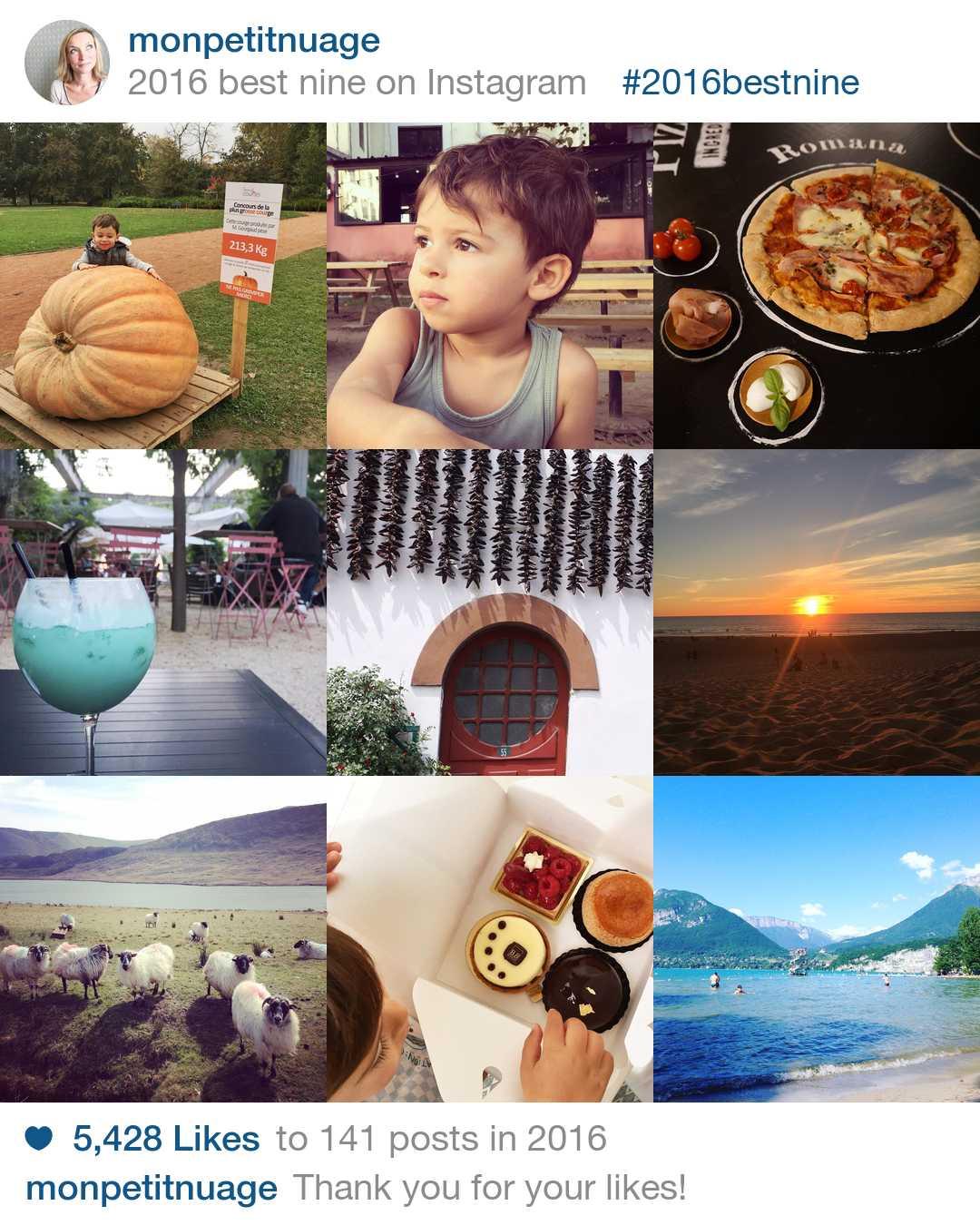 Best nine 2016 Instagram