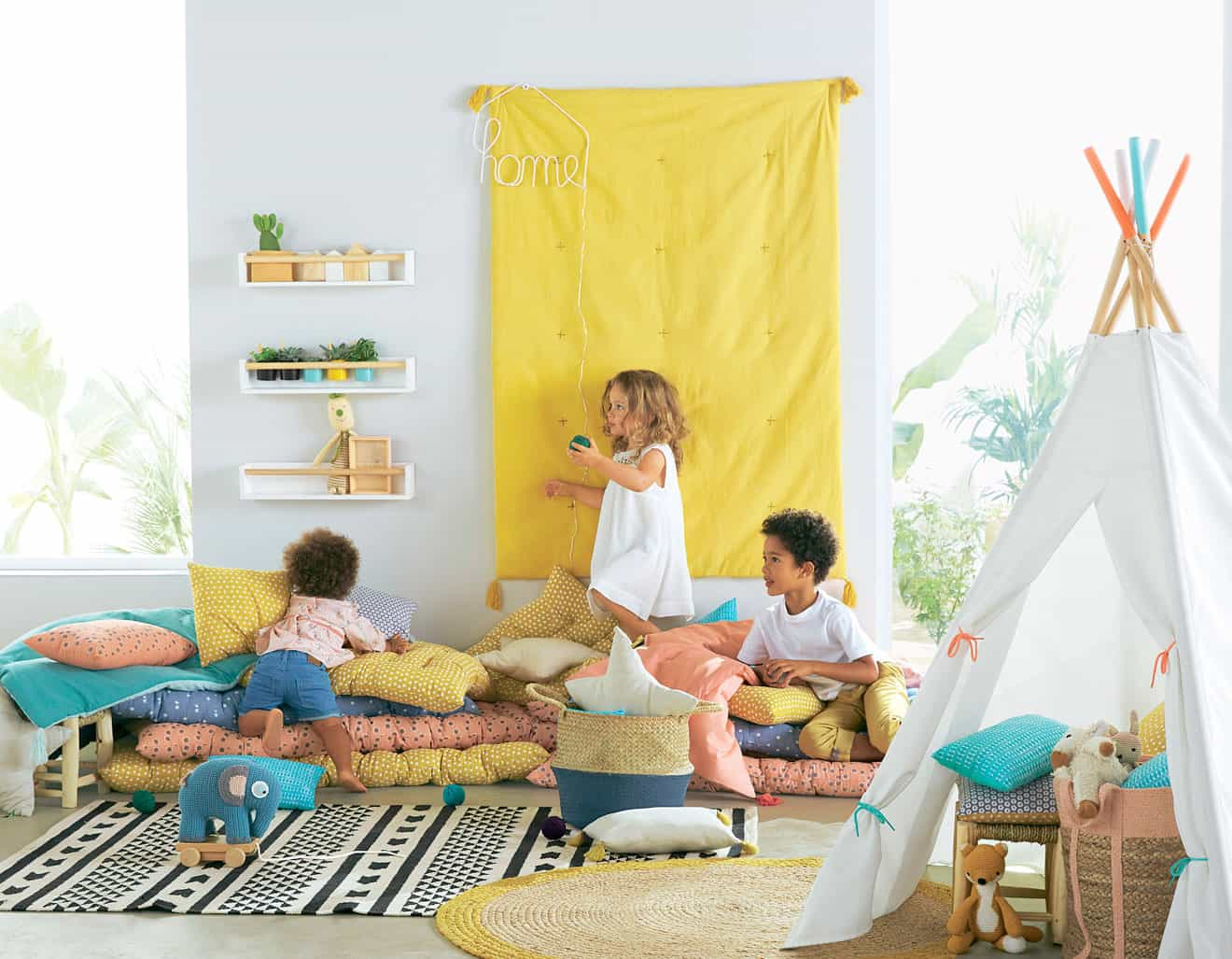 Chambre enfant : un tipi pour s'amuser et pour décorer !