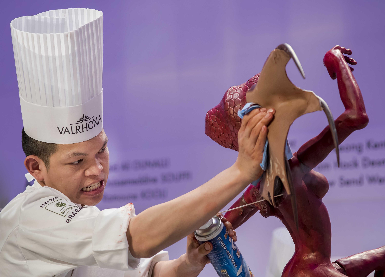 Sculpture en chocolat SIRHA 2017