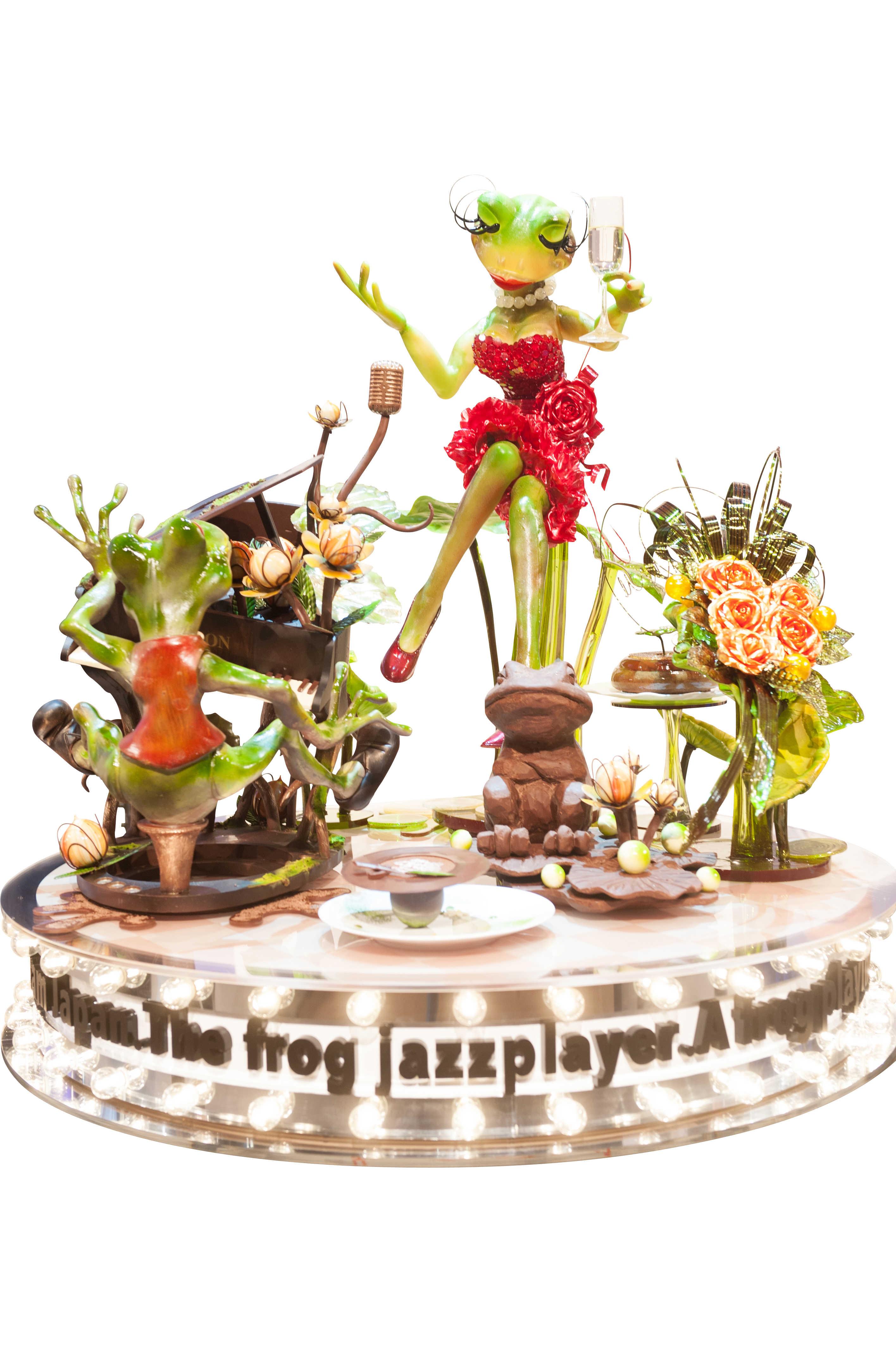 Coupe du monde de pâtisserie : sculpture en sucre et chocolat - Japon