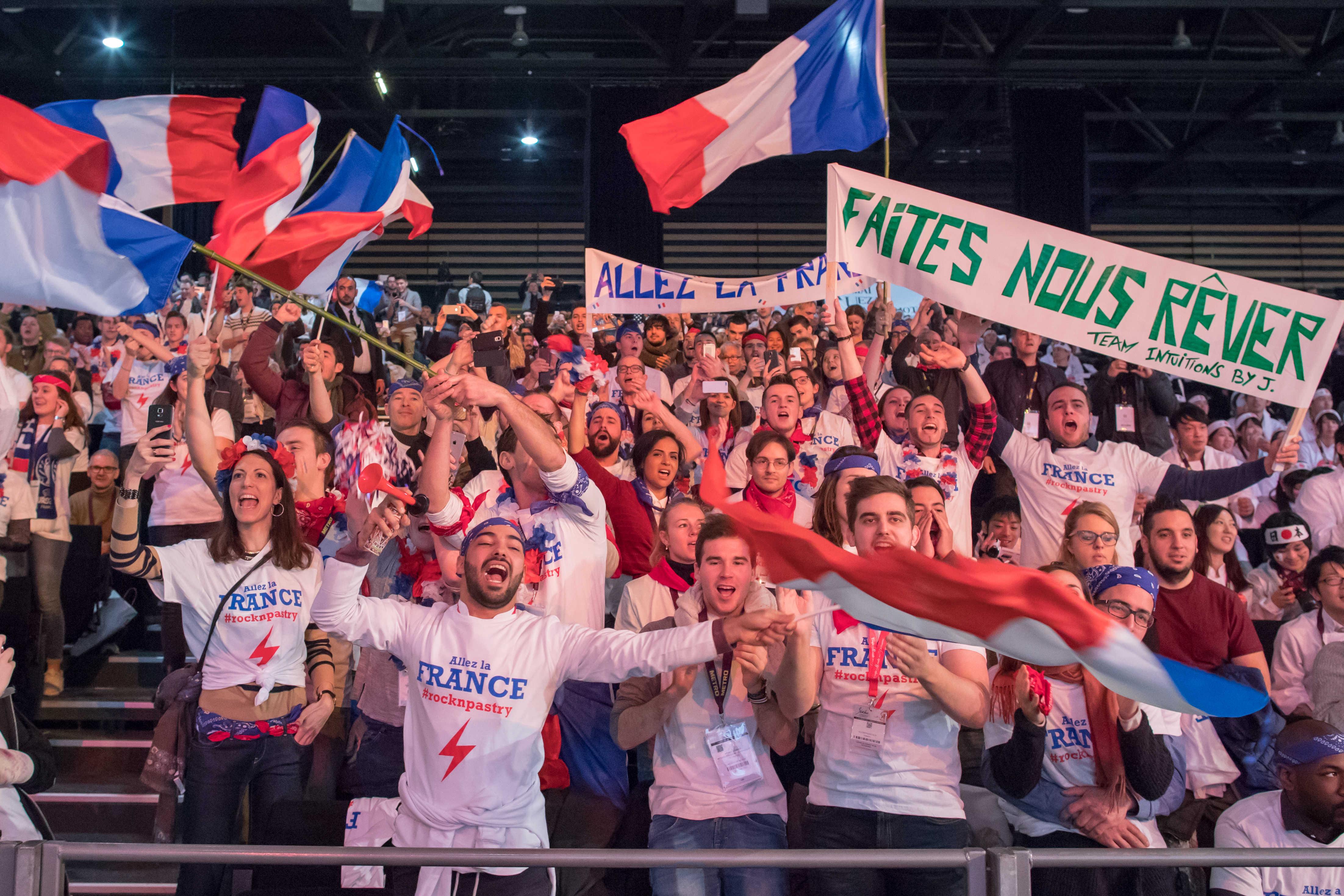 SIRHA 2017 : les supporters lors de la finale de la coupe du monde de Pâtisserie