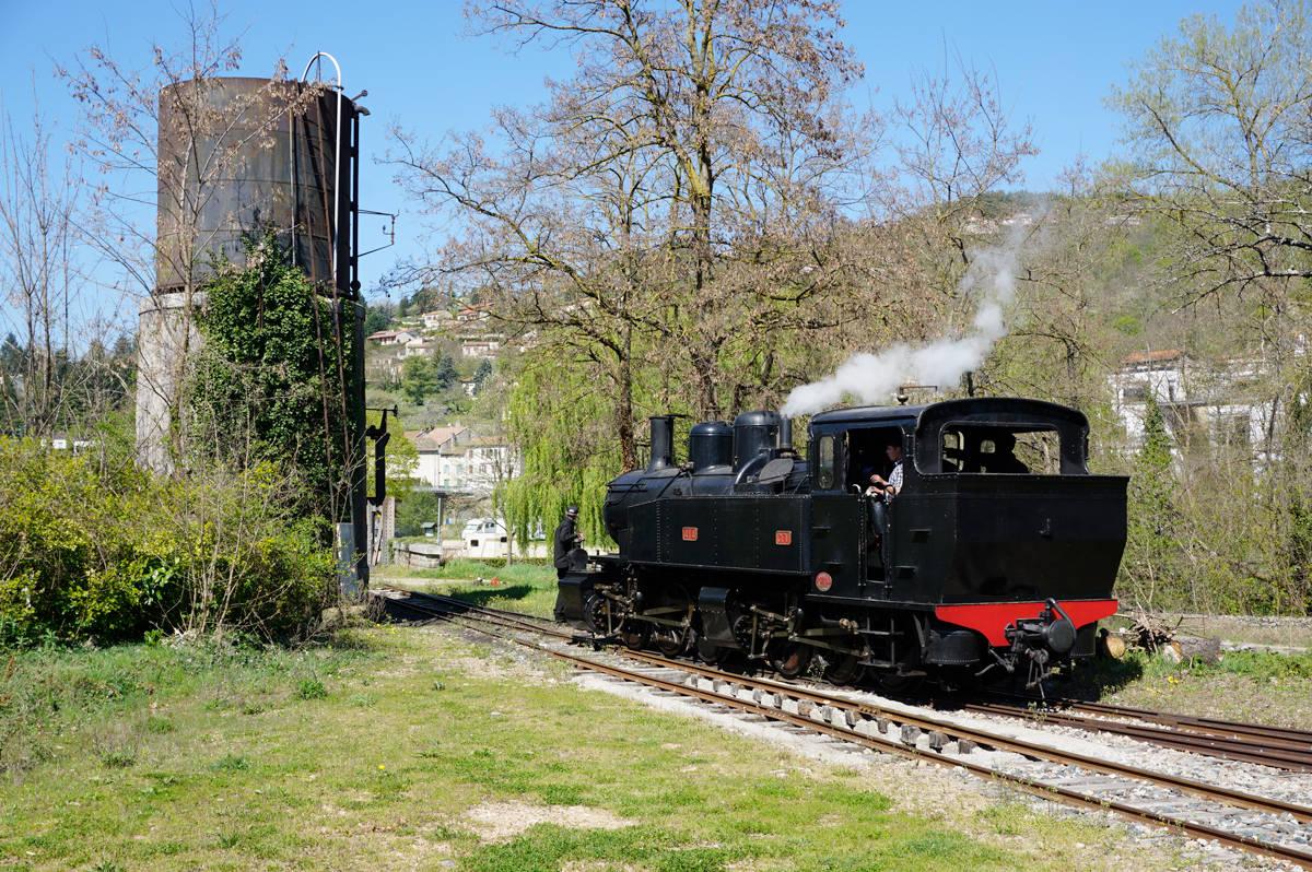Le petit train d'Ardèche à Lamastre