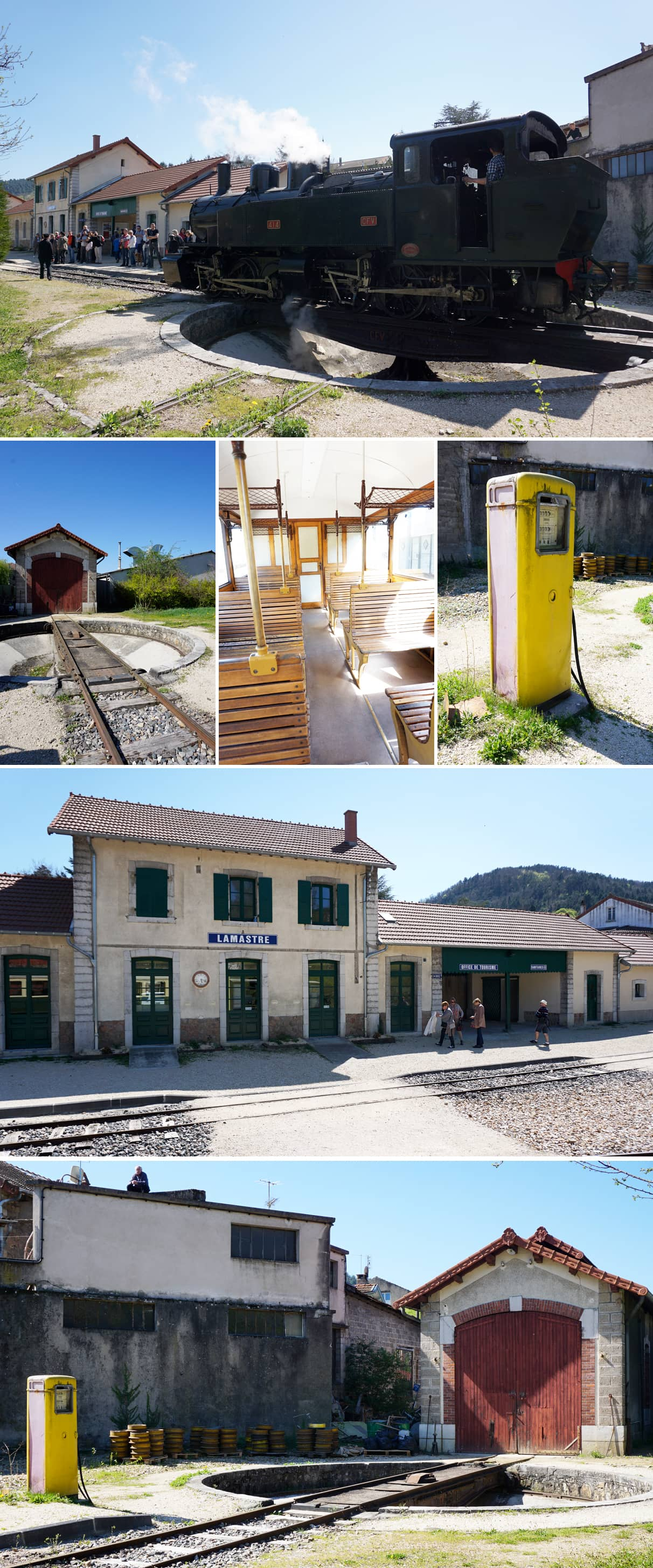 Le Mastrou : le petit train d'Ardèche sur le chemin de fer du Vivarais - Lamastre