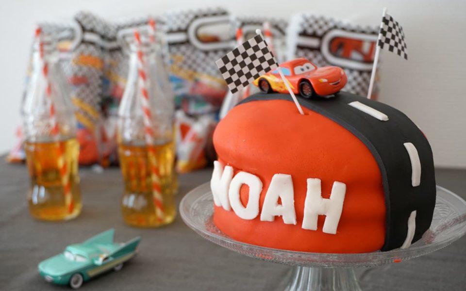 Gâteau d'anniversaire Cars : les 3 ans de Noah