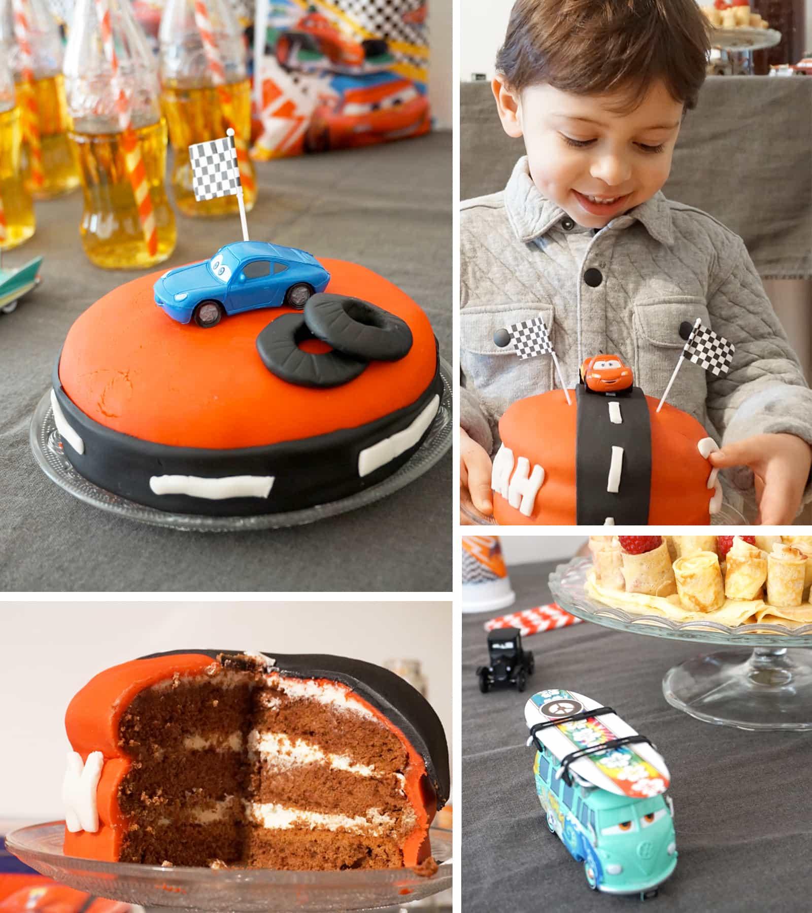 Un goûter d'anniversaire Cars pour ses 3 ans