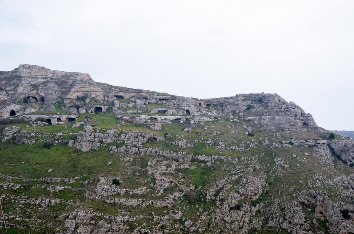 Les grottes de Matera