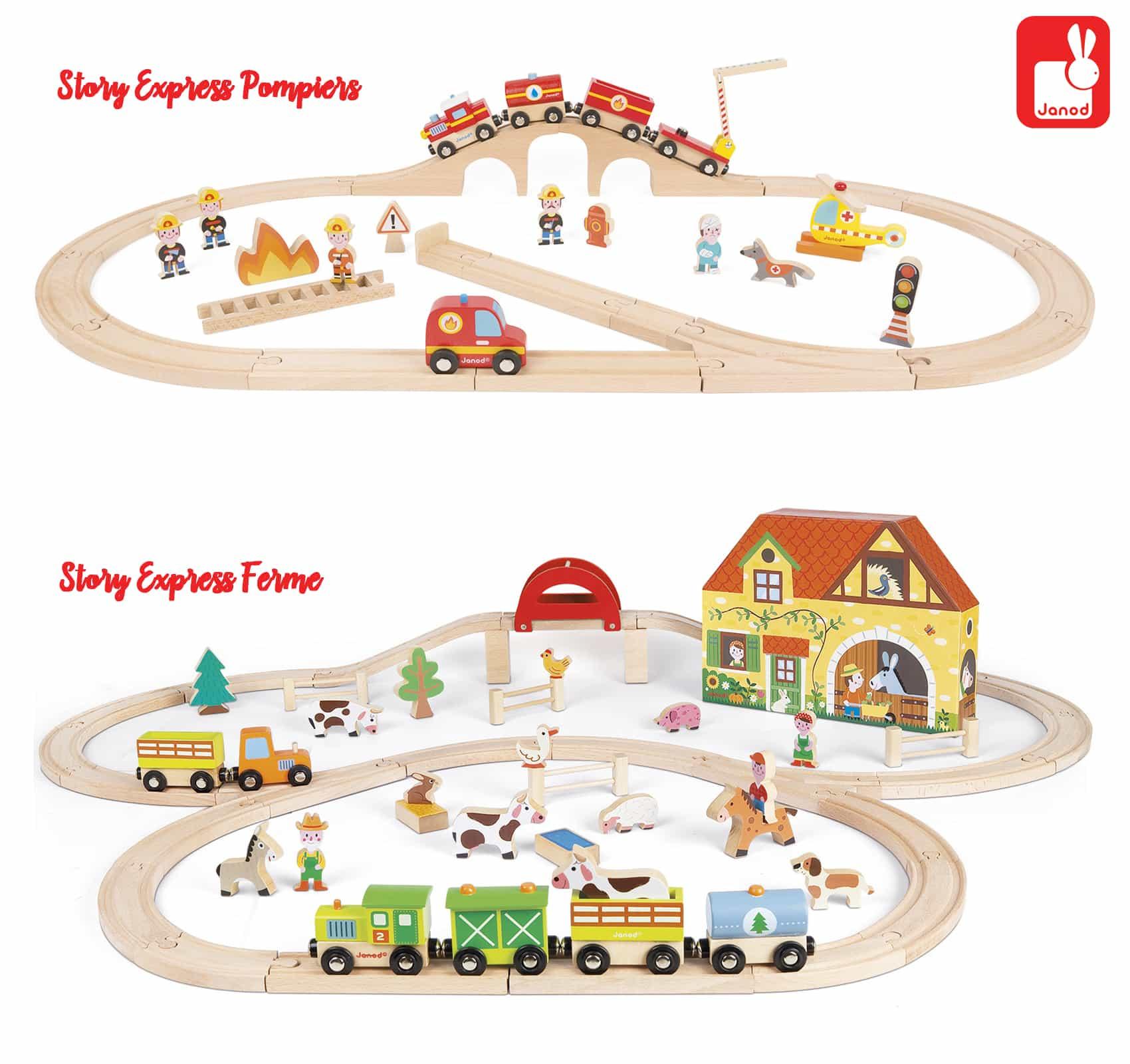 Jouet en bois : le circuit de train Story Express de Janod : un circuit à gagner - Jeu concours - Blog maman