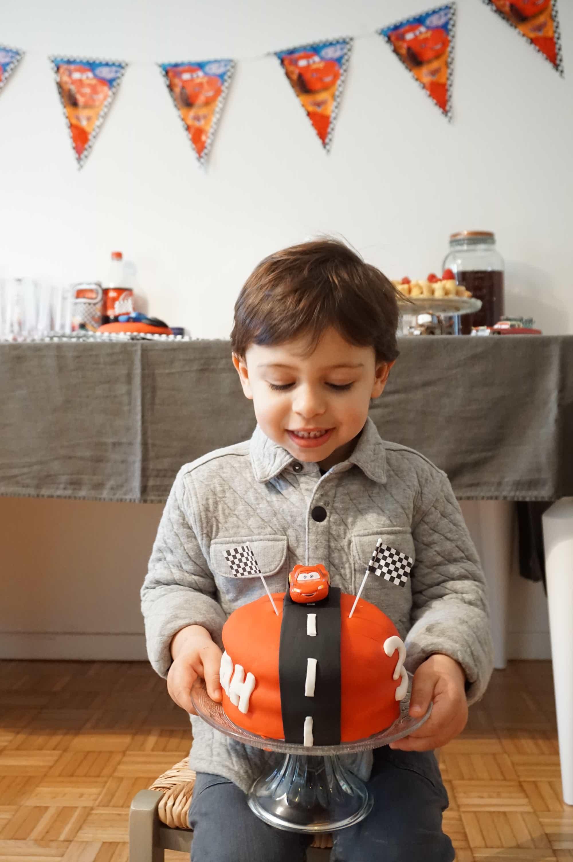 L'anniversaire Cars de Noah pour ses 3 ans