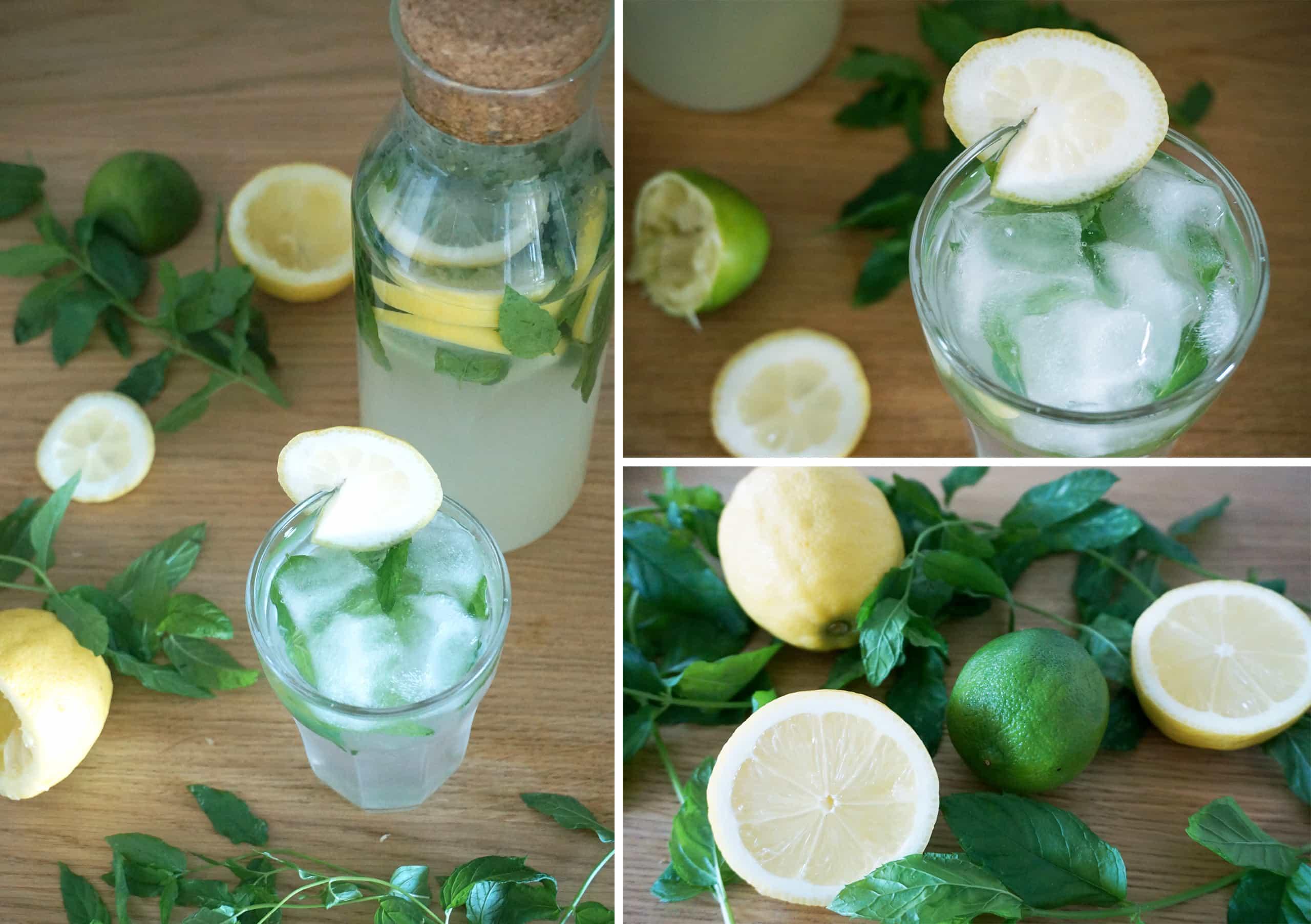Recette citronnade menthe maison