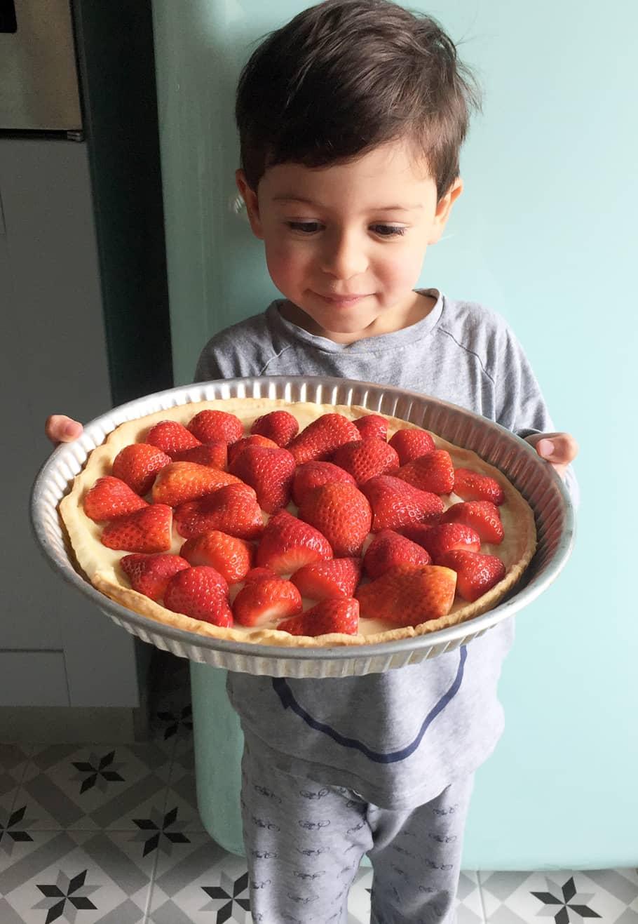Noah et sa tarte aux fraises