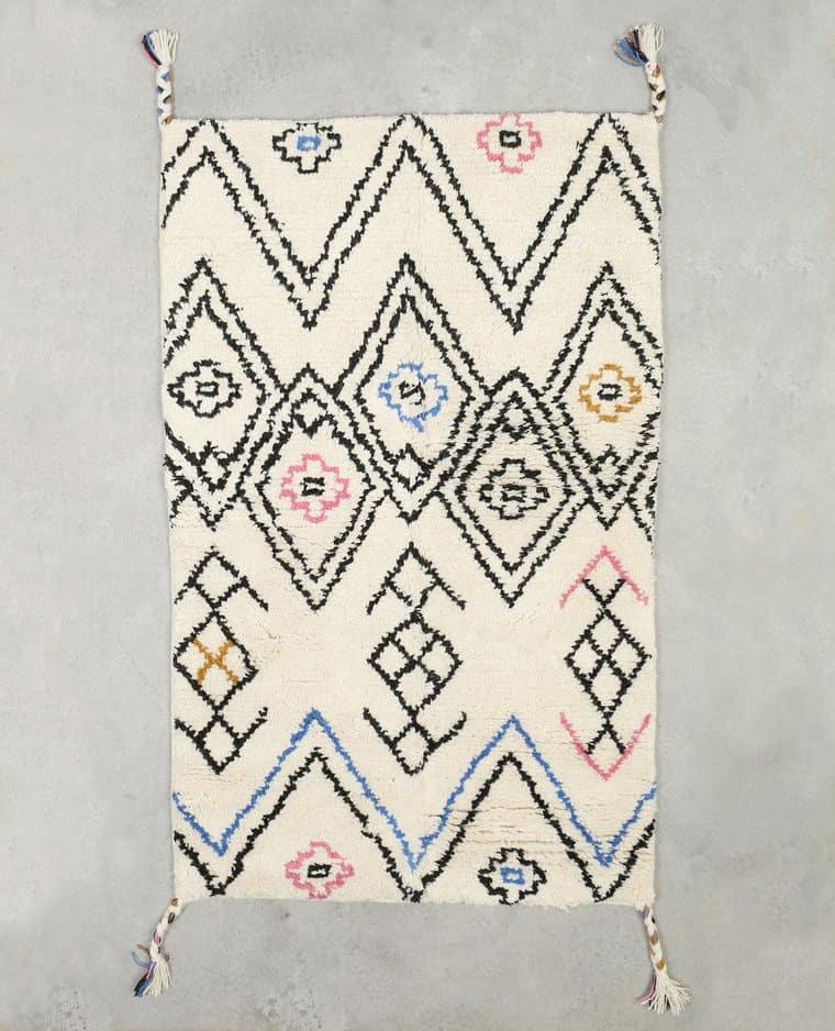 Déco bohème : tapis berbère en laine - Pimkie Home