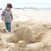 A la plage de Saint-Malo - Vacances en Bretagne