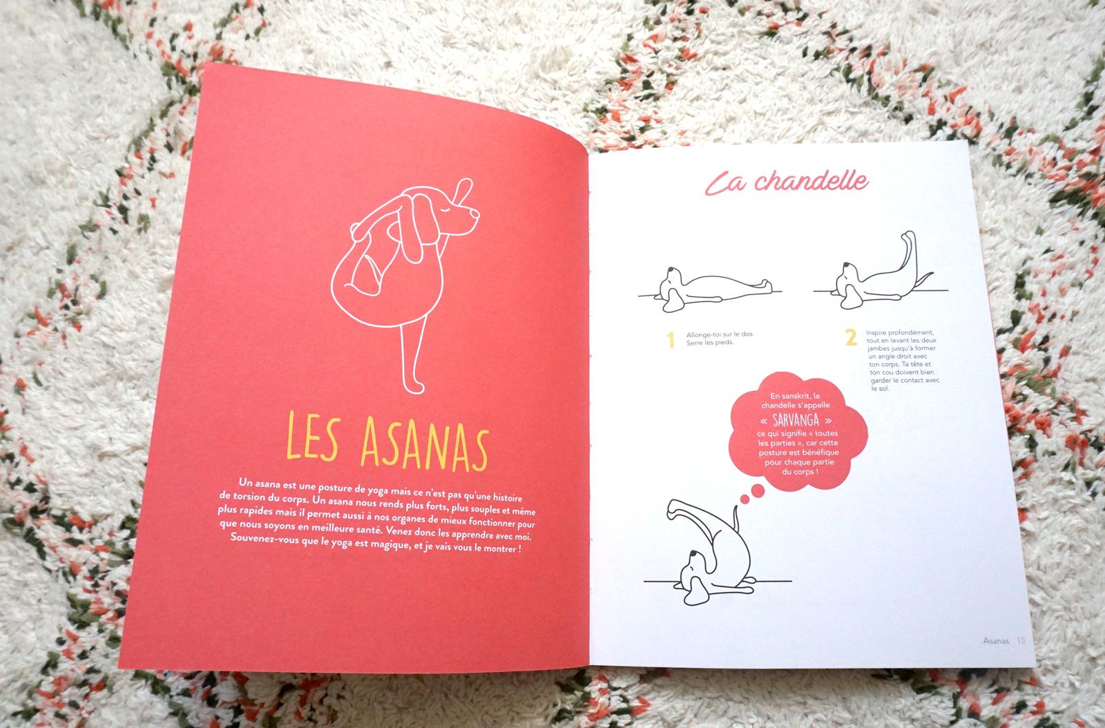 Livre enfant Yoga : une posture de yoga pour les enfants