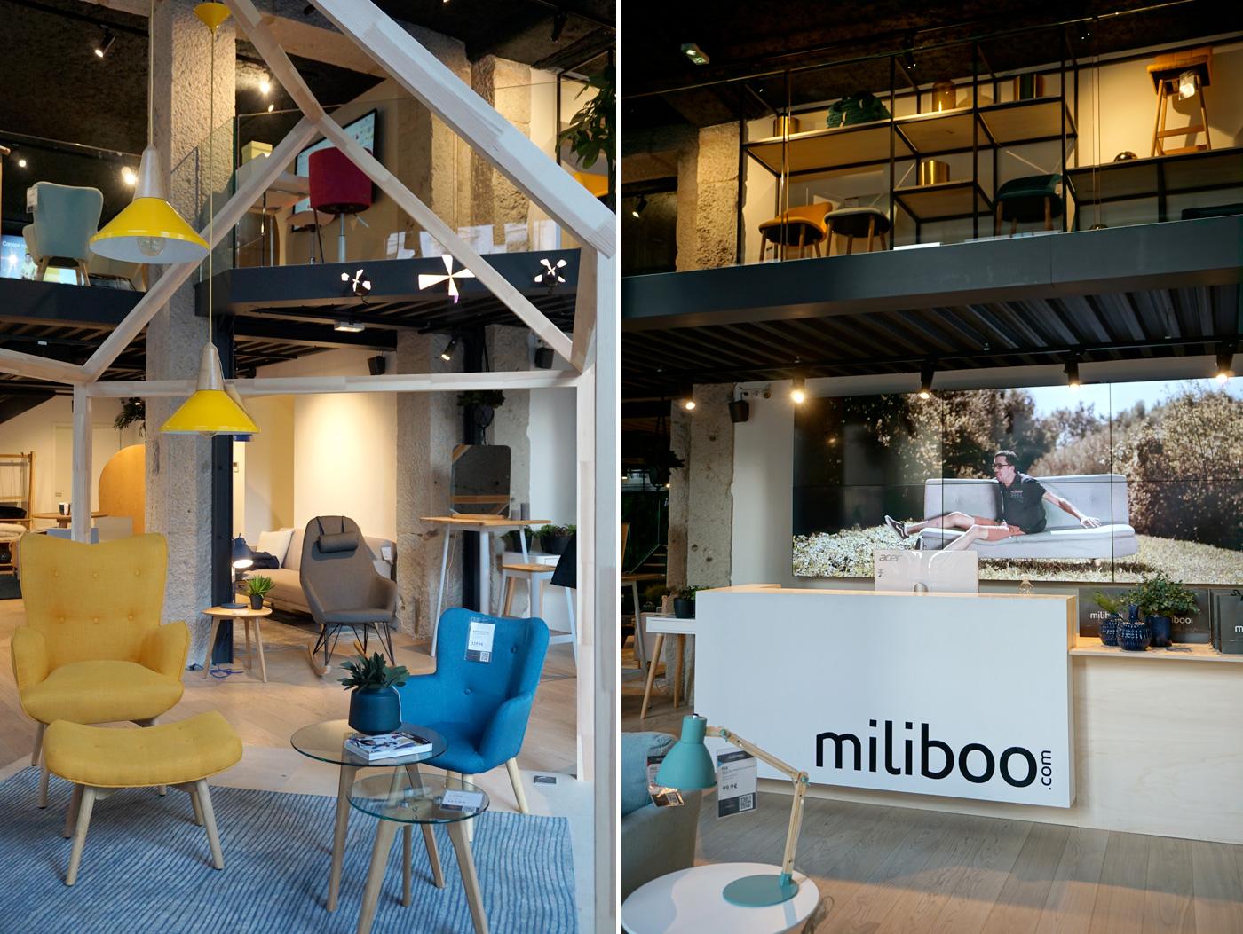 La boutique connectée Miliboo à Lyon - Déco et mobilier scandinave et industriel