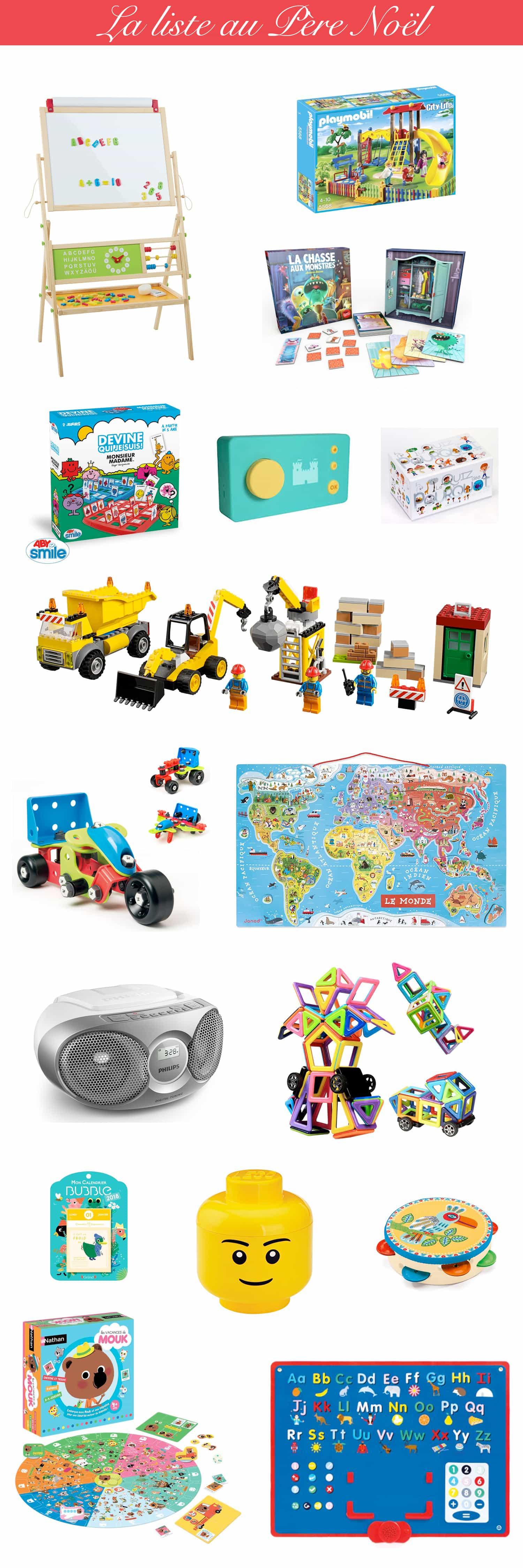 La liste au Père Noël : idées cadeau pour un enfant de 4 ans - Idée cadeau garçon