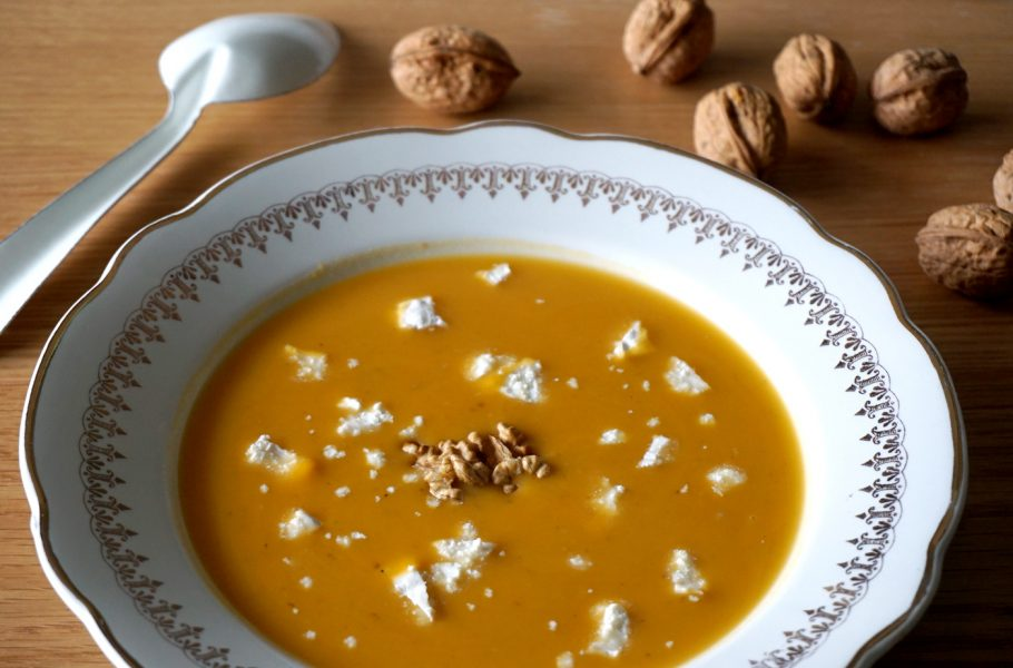 Velouté butternut châtaigne - Recette d'automne