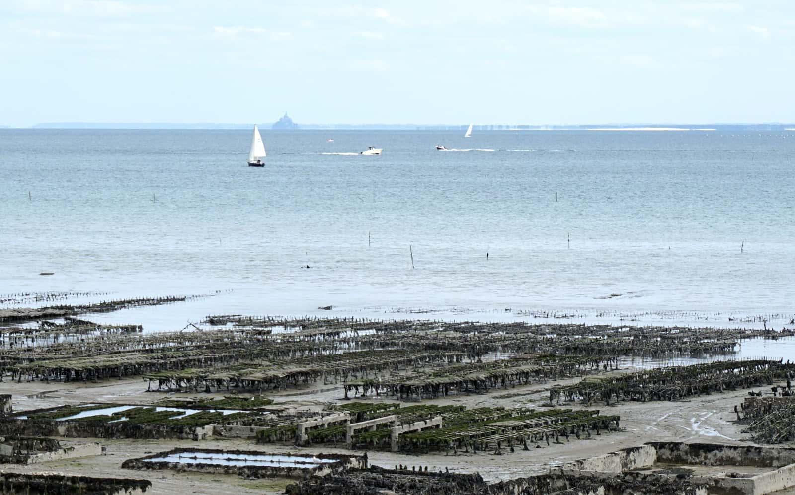 La baie du Mont-Saint-Michel depuis le port de Cancale