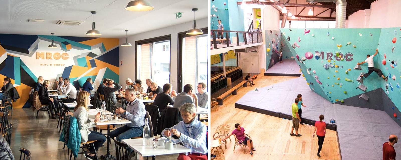 MRoc Part-Dieu - Bistrot et mur d'escalade à Lyon - Sortie en famille, activité indoor