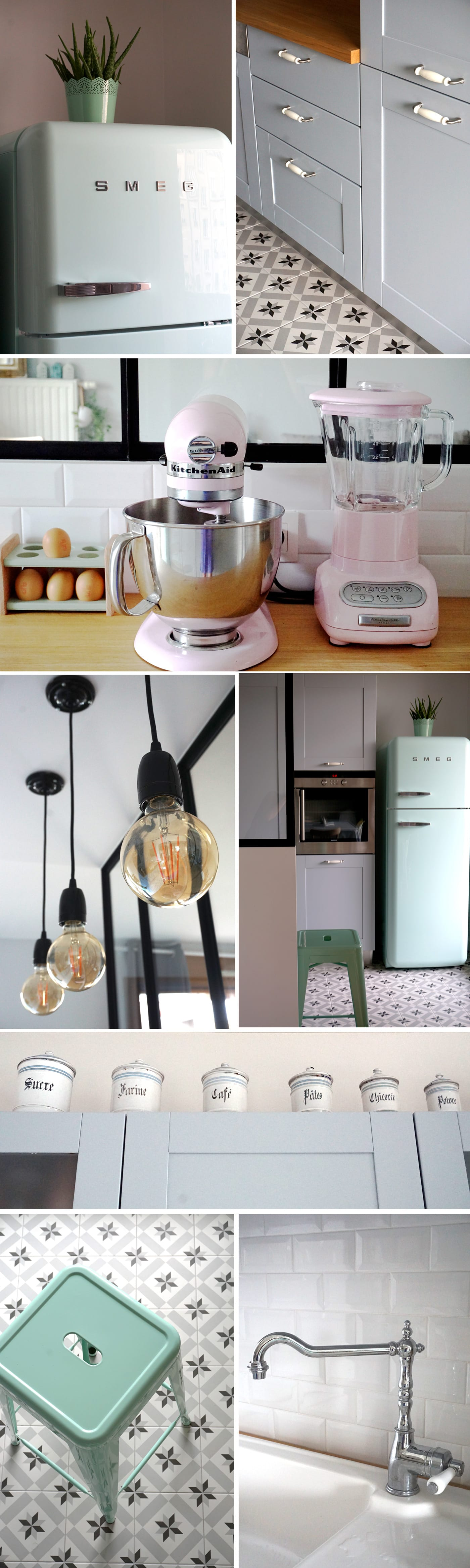 Home tour : ma cuisine vintage industrielle - Smeg et Kitchenaid