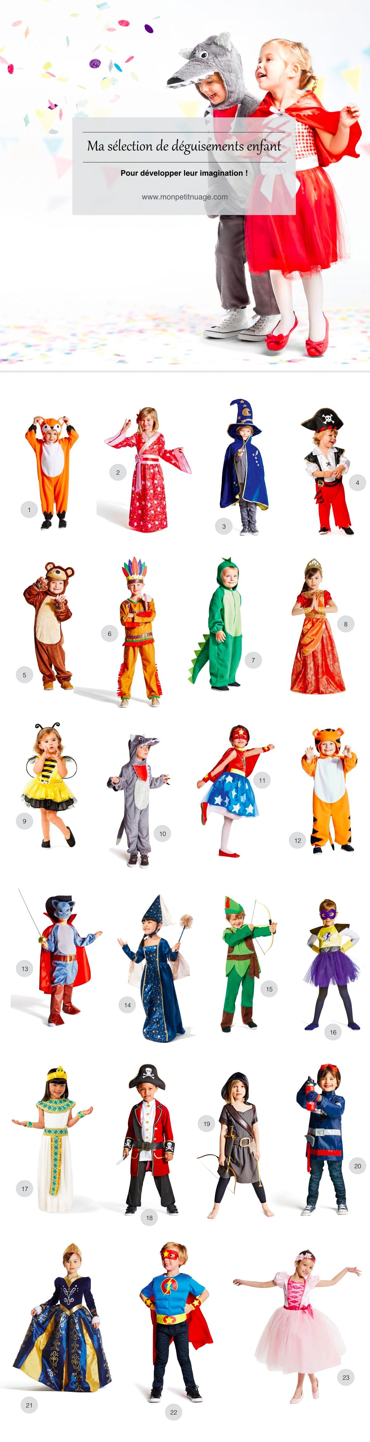 Déguisement enfant Carnaval - Déguisement mixte, fille et garçon