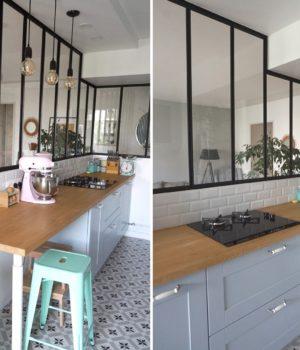 Verrière d'angle atelier - Cuisine semi-ouverte - Déco intérieur