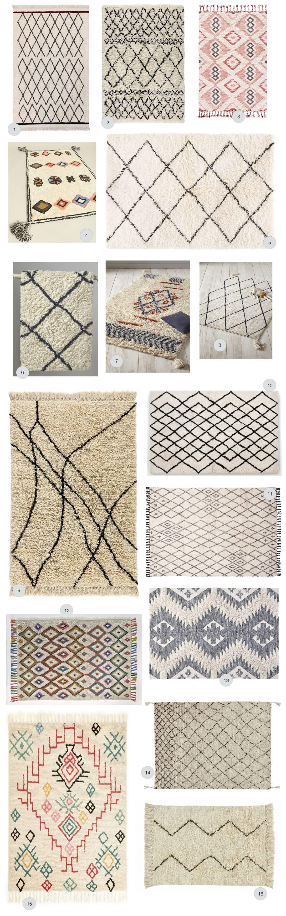 Déco intérieur : où acheter un tapis berbère en laine pas cher