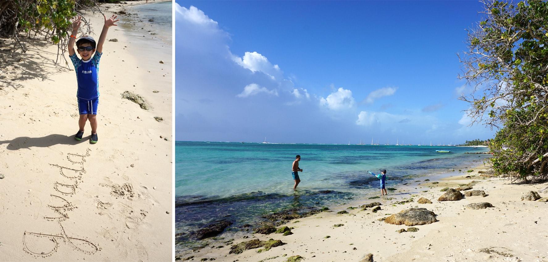 Plage Grande-Terre Guadeloupe à Saint-François