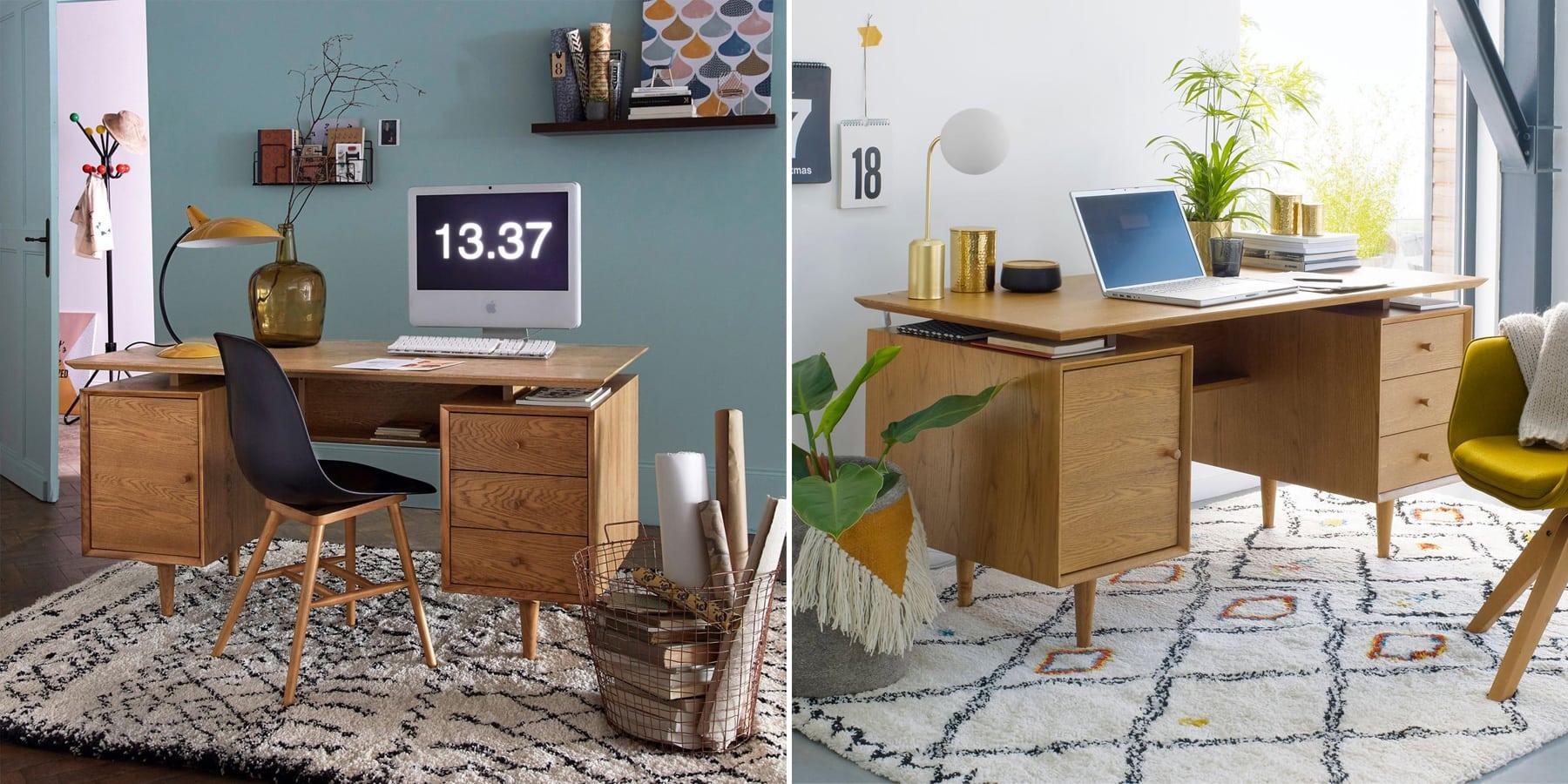 Où acheter un tapis berbère - Inspirations déco : un tapis berbère dans le bureau