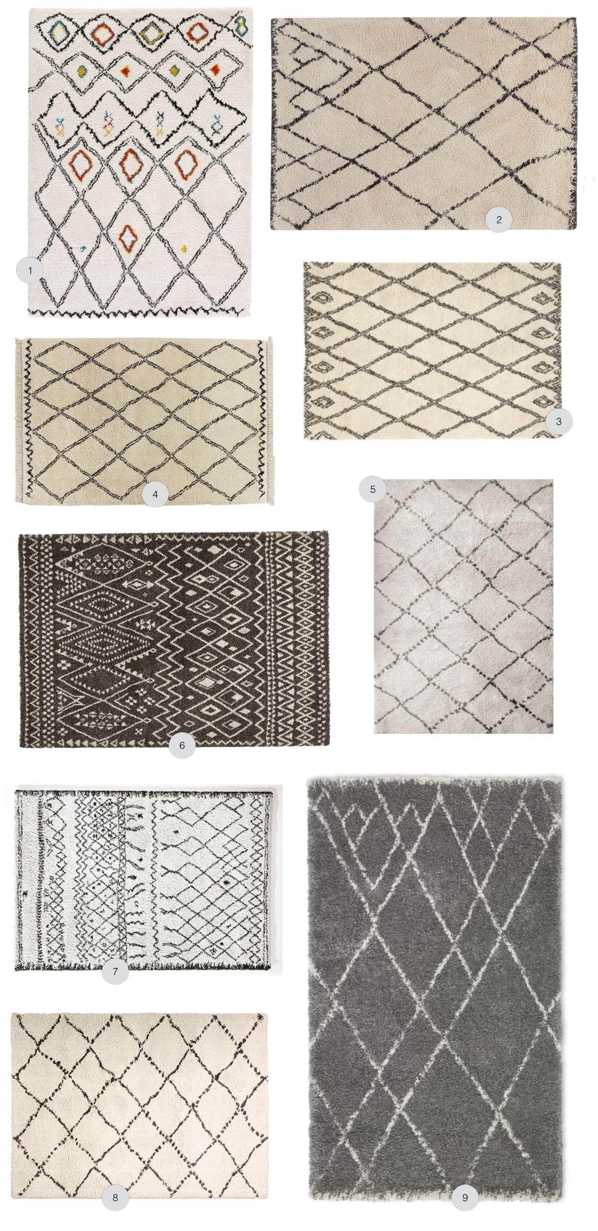 o acheter un tapis style berb re en laine ou en synth tique blog d co. Black Bedroom Furniture Sets. Home Design Ideas