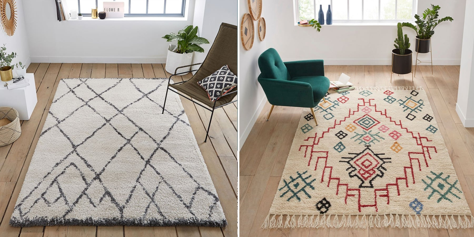 O acheter un tapis style berb re en laine ou en for Blog salon beige
