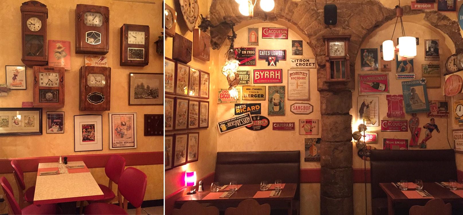 Un restaurant à Lyon à la déco vintage brocante