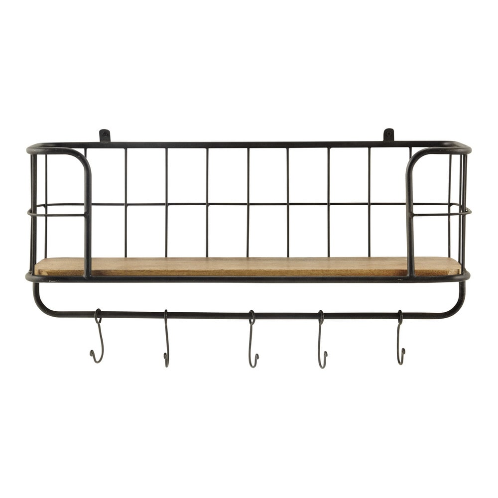 Deco industrielle etagere murale en metal madison