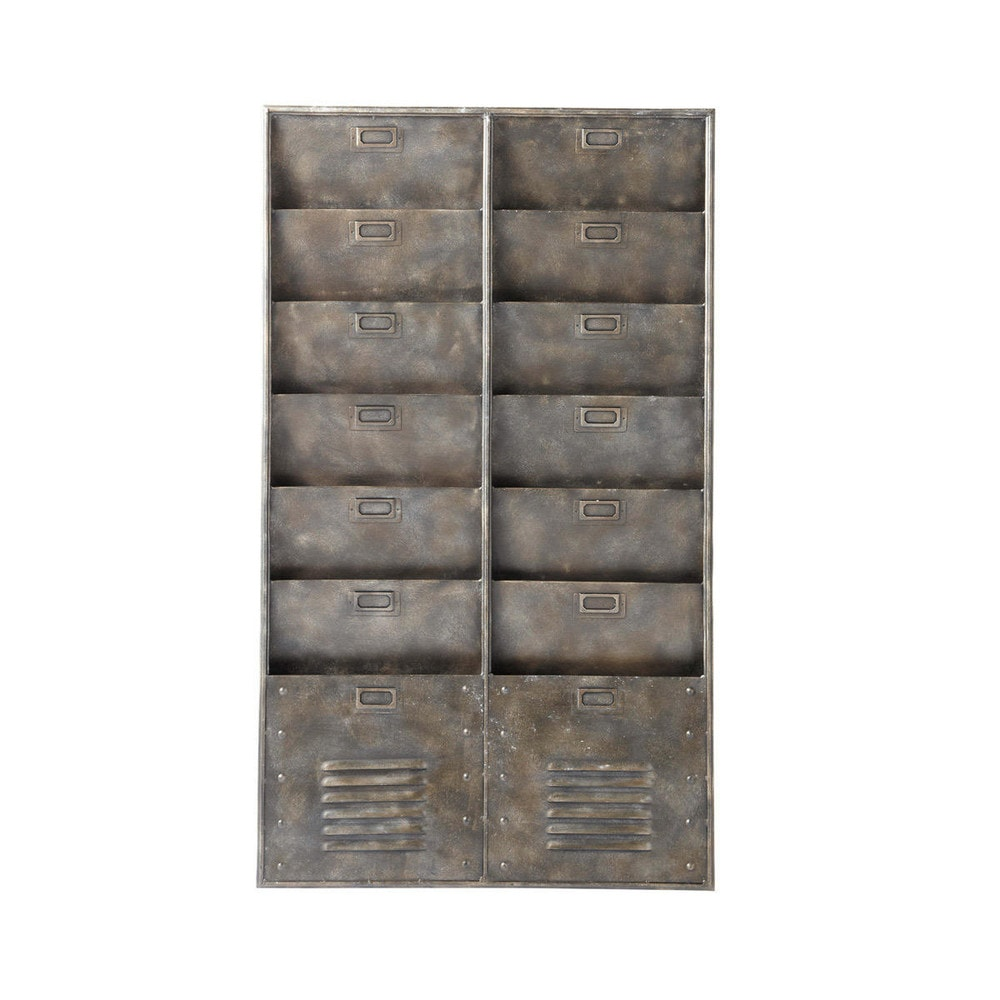 Deco industrielle rangement mural indus en metal barkley