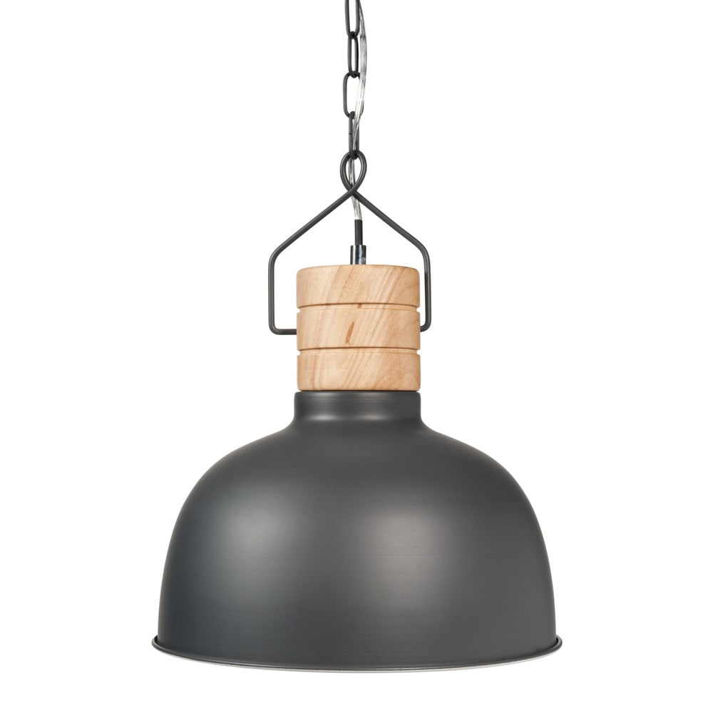 Deco industrielle suspension en metal grise