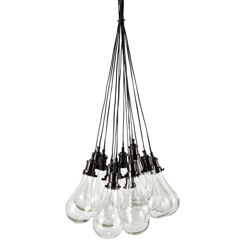 Deco industrielle suspension en verre