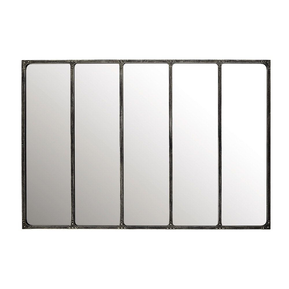 Deco industrielle miroir metal