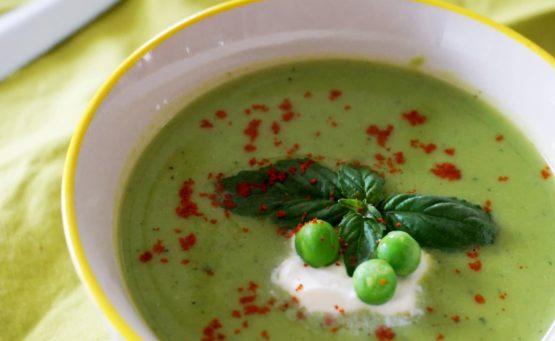 Recette soupe froide petits pois